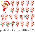 女孩 少女 聖誕老人 34849075