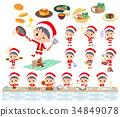 男孩 聖誕老人 聖誕老公公 34849078