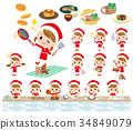 Santa Claus Costume girl_cooking 34849079