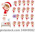 女孩 少女 聖誕老人 34849082
