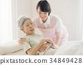 คนดูแลและดูแลเยี่ยมบ้านอาวุโสพยาบาล 34849428