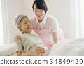 개호 복지사와 노인 방문 간호 가정 간호 34849429