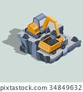 mining, coal, vector 34849632