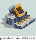 isometric, vector, truck 34849637