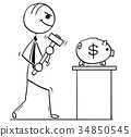 Cartoon Illustration of Business Men with 34850545