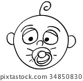 baby, dummy, cartoon 34850830