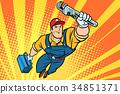 工人 劳动者 水管工人 34851371