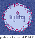 birthday, floral, greeting 34851431