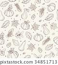 pumpkin seamless pattern 34851713