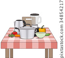 Kitchen and food preparing topic. 34854217