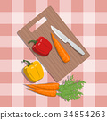 Healthy food and kitchen topic. 34854263