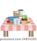 Kitchen and food preparing topic. 34854265