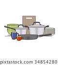 concept, cookware, kitchenware 34854280