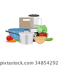 Kitchen and food preparing topic. 34854292