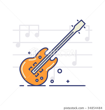 Musical instruments icons 34854484
