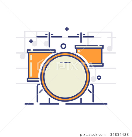 Musical instruments icons 34854488