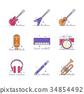经典的 音乐 矢量 34854492