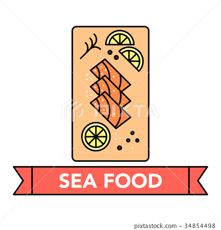 Sea food icons 34854498