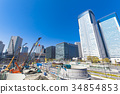 business district, highrise, multistory building 34854853