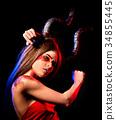 Black magic ritual mad satan woman in hell on 34855445