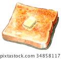 面包 水彩画 西餐 34858117
