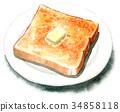 麵包 水彩畫 西餐 34858118