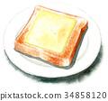 面包 白面包 奶酪 34858120