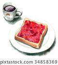 麵包 西餐 白麵包 34858369