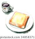 面包 西餐 白面包 34858371