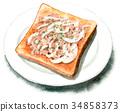 麵包 水彩畫 吐司 34858373