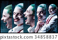Bloody Halloween theme: crazy joker face 34858837