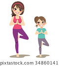 Yoga Mom Daughter 34860141