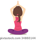 Woman Practicing Yoga 34860144