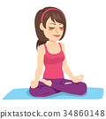 Woman Meditation Yoga 34860148