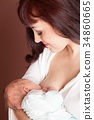 breastfeeding, baby, mother 34860665