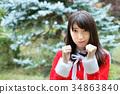聖誕老人 聖誕老公公 女性 34863840