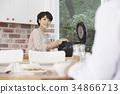 女子 婦女的 廚房 34866713