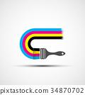 用于印刷的四分色 设计 绘画 34870702