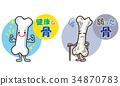骨頭 骨骼 人物 34870783