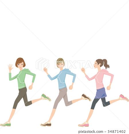 달리기하는 여성 34871402