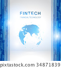 Fin tech Internet Concept. text and Investment 34871839