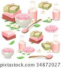 Natural handmade cosmetics for spa vector set 34872027