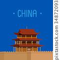 JiaYuGuan The Great Wall of China 34872093