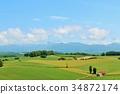 홋카이도 푸른 하늘과 북쪽의 대지 34872174