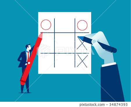 Businessman and leisure games. Concept business. 34874393