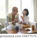 老人 夫婦 一對 34877575