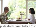 慶祝週年的資深夫婦 34877712