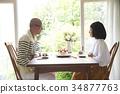 慶祝週年的資深夫婦 34877763
