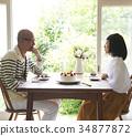 慶祝週年的資深夫婦 34877872