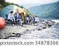 家庭享受露營 34878306
